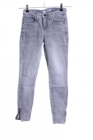 Only Skinny Jeans hellgrau Allover-Druck Casual-Look