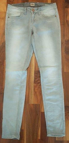 Only Skinny Jeans, W27 L32, hellgrau, Slim Fit, Low Waist