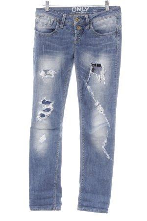 Only Slim Jeans blau Destroy-Optik