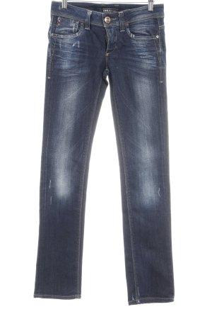Only Slim Jeans dunkelblau-weiß Destroy-Optik