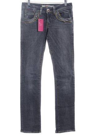 Only Slim Jeans grau Used-Optik