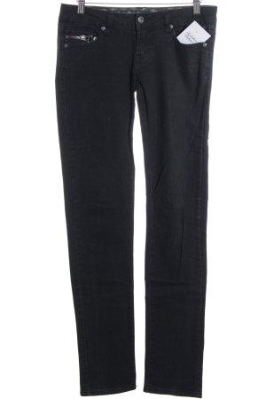 Only Slim Jeans schwarz Street-Fashion-Look