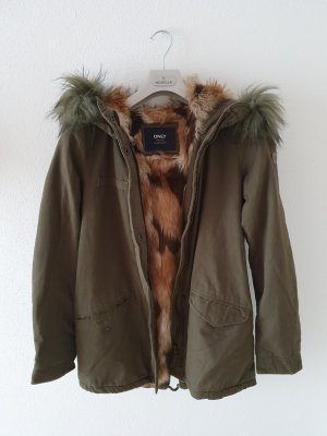 Only Parka marrone-verde scuro