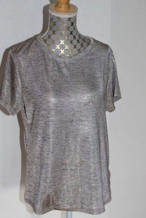 Only T-shirt srebrny Poliester