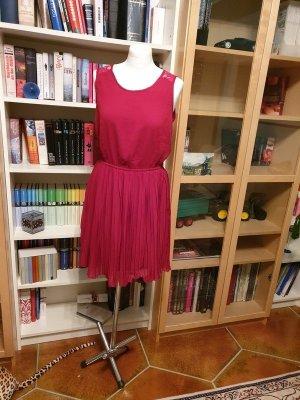 Only Sommerkleid Minikleid rot dunkelrot Gr. 38 (M) Kleid Spitze Plissee