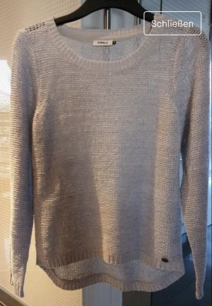 Only Crochet Sweater light grey