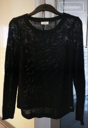 Only Crochet Sweater black