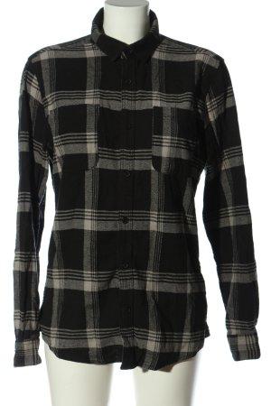 only & sons Camisa de manga larga negro-gris claro look casual