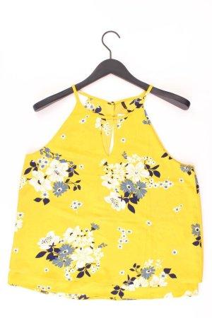 Only Spaghetti-Top Größe 42 mit Blumenmuster gelb aus Polyester