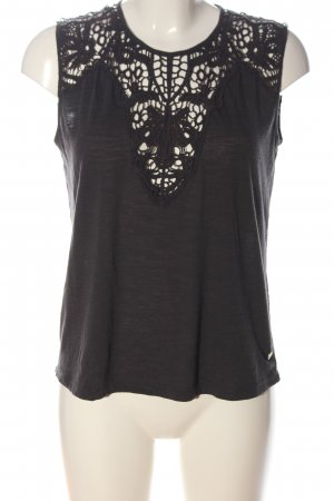 Only Spitzenbluse schwarz Casual-Look