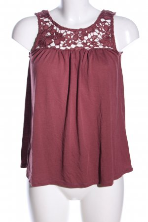 Only Spitzenbluse rot Casual-Look