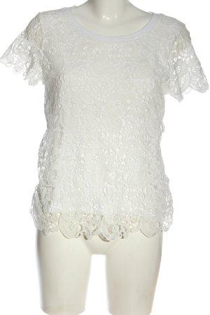 Only Blusa in merletto bianco elegante