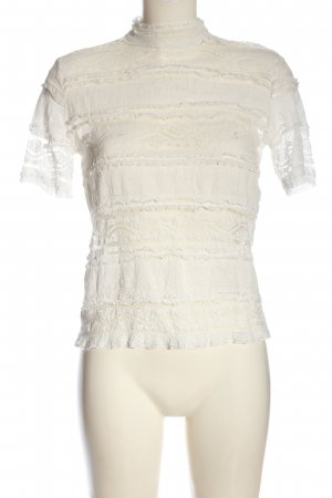 Only Lace Blouse white casual look