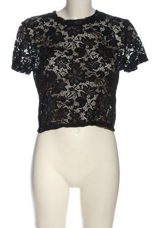 Only Kanten blouse zwart transparante uitstraling