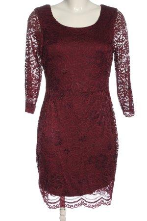 Only Vestido de encaje rojo elegante