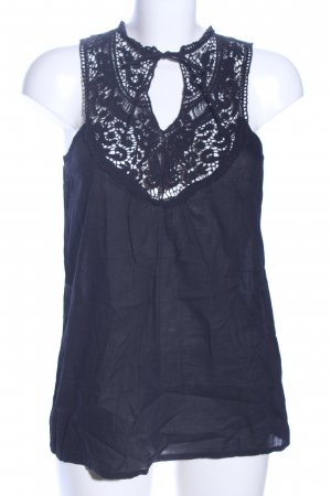 Only Lace Top blue casual look