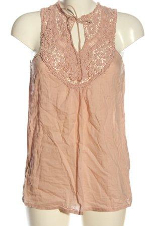 Only Koronkowy top różowy W stylu casual