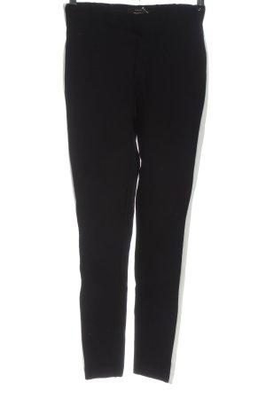 Only Spodnie sportowe czarny-biały W stylu casual