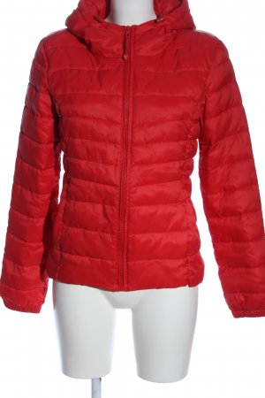 Only Steppjacke rot Steppmuster Casual-Look