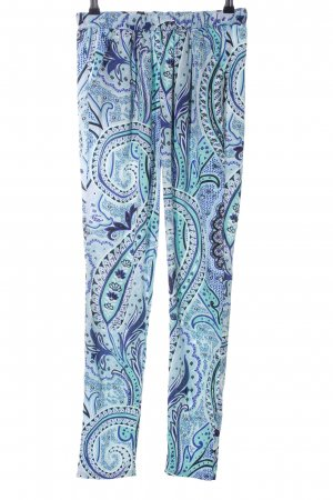 Only Stoffhose blau-türkis abstraktes Muster Casual-Look
