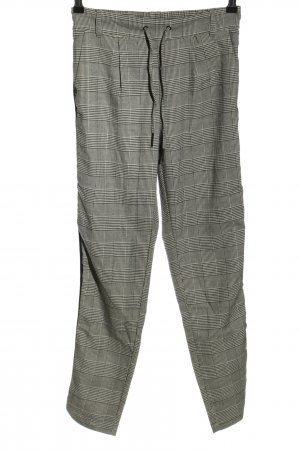 Only Stoffhose hellgrau Karomuster Casual-Look