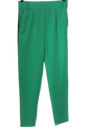 Only Stoffhose grün Streifenmuster Casual-Look