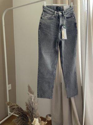 Only Jeansy z prostymi nogawkami szary