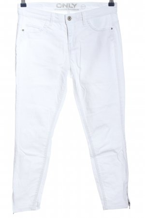 Only Straight-Leg Jeans weiß Casual-Look