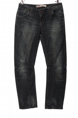 Only Straight-Leg Jeans hellgrau Casual-Look