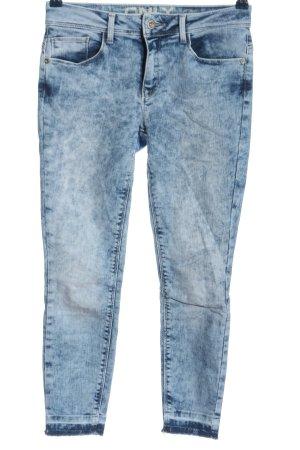 Only Jeansy z prostymi nogawkami niebieski Melanżowy W stylu casual