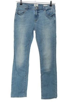 Only Jeans coupe-droite bleu style décontracté