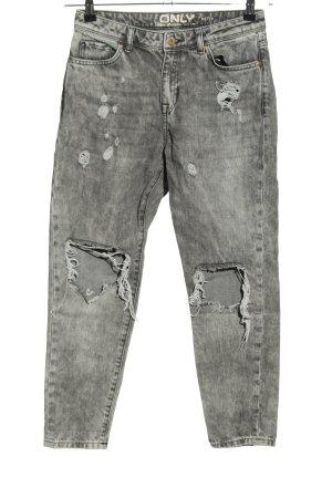 Only Jeansy z prostymi nogawkami jasnoszary W stylu casual