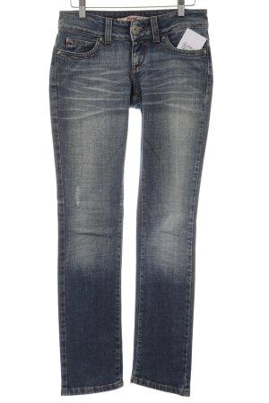 Only Straight-Leg Jeans blau-dunkelblau Casual-Look