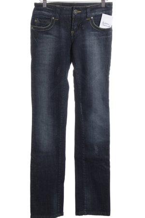 Only Straight-Leg Jeans dunkelblau Street-Fashion-Look
