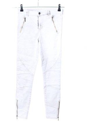 Only Jeans stretch blanc style décontracté