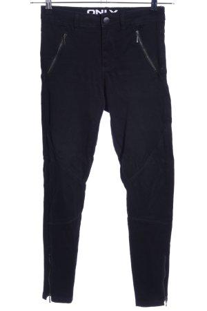 Only Pantalón elástico negro look casual