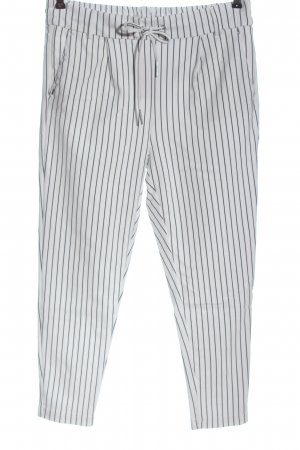 Only Stretch Trousers white-black striped pattern casual look