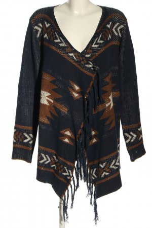 Only Strick Cardigan Allover-Druck Casual-Look