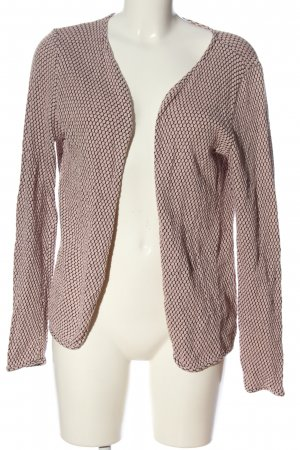 Only Strick Cardigan wollweiß-schwarz abstraktes Muster Casual-Look