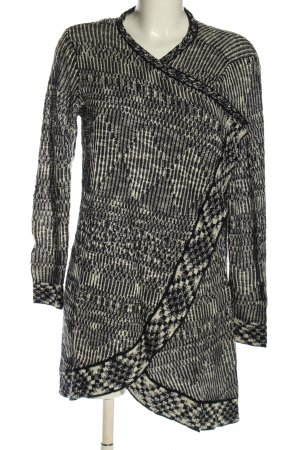 Only Strick Cardigan hellgrau Allover-Druck Casual-Look