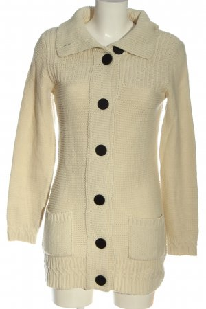 Only Strick Cardigan wollweiß Zopfmuster Casual-Look