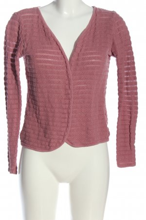 Only Strick Cardigan pink Streifenmuster Casual-Look