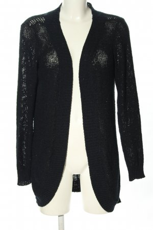 Only Strick Cardigan schwarz Zopfmuster Casual-Look
