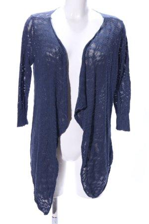 Only Strick Cardigan blau meliert Casual-Look