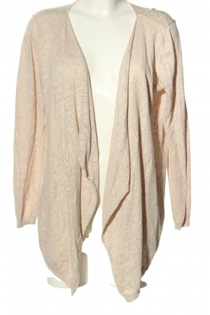 Only Strick Cardigan creme abstraktes Muster Casual-Look