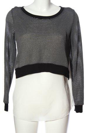 Only Strick Cardigan schwarz-weiß Streifenmuster Casual-Look
