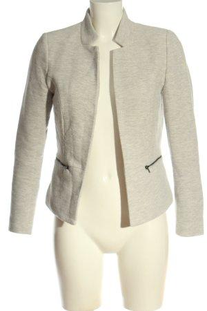 Only Blazer en maille tricotée blanc cassé-gris clair imprimé allover