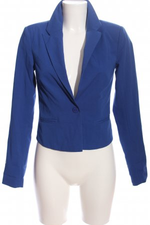 Only Knitted Blazer blue business style