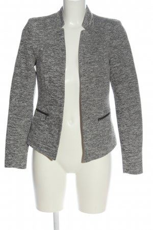 Only Knitted Blazer light grey-black casual look