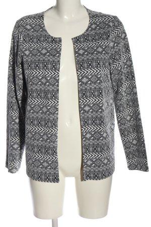 Only Blazer in maglia nero-bianco motivo grafico stile casual